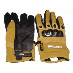 Kevlarové rukavice pískové s chráničem kloubů ,L
