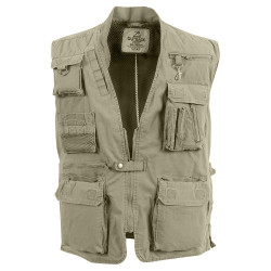 vest fishing KHAKI DELUXE SAFARI, SIZE M