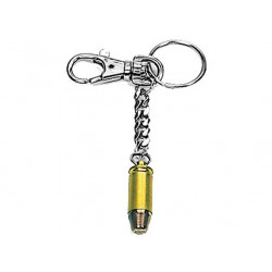 Key chain with carbine cartridge GOLD - 9mm
