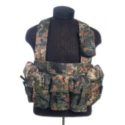 CHEST RIGG tactical vest 6 pouches Flecktarn