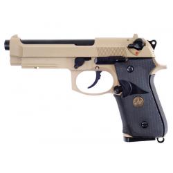 Beretta M9 A1 NAVY, písková, celokov, blowback, CO2
