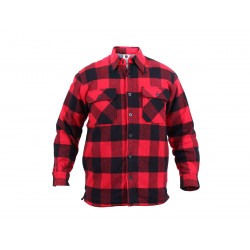 Lumberjack plaid shirt warm RED, SIZE XL