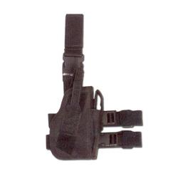 Pistol holster thigh RIGHT BLACK
