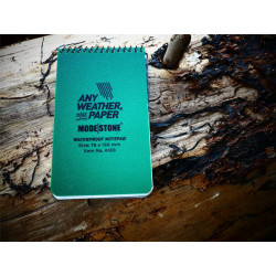All Weather Notebook 76 mm x 130 mm, 30 sites - GREEN