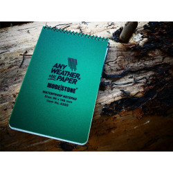 All Weather Notebook 96 mm x 148 mm, 30 sites - GREEN