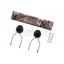 Rail adapter set na helmu pro headset Sordin SRD, černý