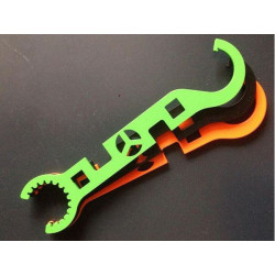 Metal AR15 Hardox wrench tool - ORANGE