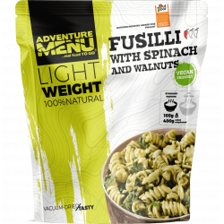 Lightweight Fusilli with spinach and walnuts (VEGAN) 400g