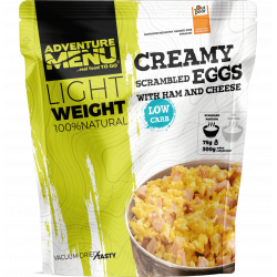 Lightweight Creamy scrambled eggs with ham and cheese 400g