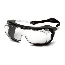 Ochranné brýle Cappture ES9910STMRG s gumovým těsněním, nemlživé - čiré