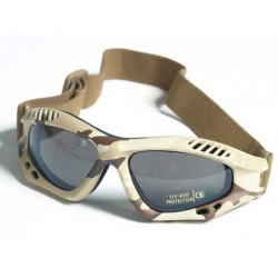 Glasses AIR COMMANDO Mil-Tec DESERT smoke