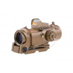 Optika SPECTER S-DR 1 a 4x 32F + kolimátor Docter, písková