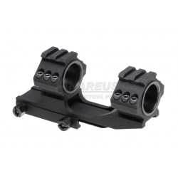Double Top Rail 25.4mm / 30mm Mount Rings - Black