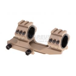 Spojené montážní kroužky 25mm / 30mm s horní RIS - pískové