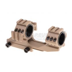 Spojené montážní kroužky 25mm / 30mm s horní a boční RIS - pískové