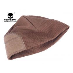 Velcro fleece čepice pod helmu, hnědá