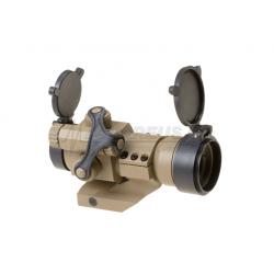 Kolimátor M2 + montáž, červený bod, regulace nasvícení, pískový