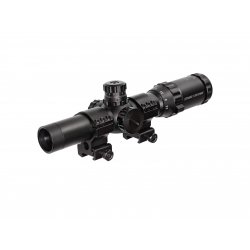 1-4X24 Short Dot sight red/green Scope w. mount ring