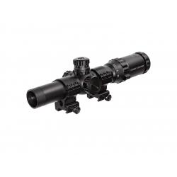 1-4X24 Short Dot sight red/green Scope w. mount ring