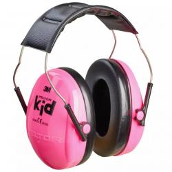 Dětská střelecká sluchátka Peltor - růžová