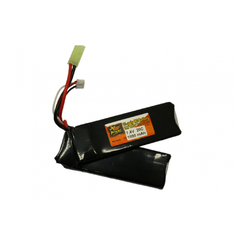 Battery XCell 7,4V / 1800mAh 30C Li-Pol Mini typ - double