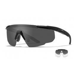 Goggles SABER ADVANCED Smoke Grey + Clear Lens/Matte black frame