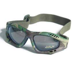 Glasses AIR COMMANDO Mil-Tec WOODLAND smoke