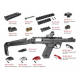 AAP01 Assassin GBB Full Auto / Semi Auto - černý