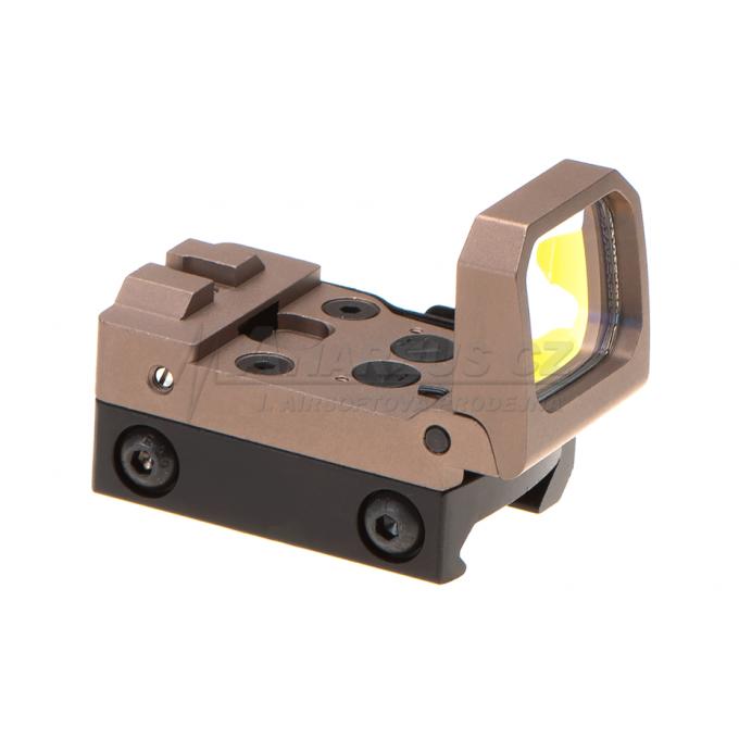 Kolimátor Flip Dot Reflex Sight, červené podsvícení, pískový