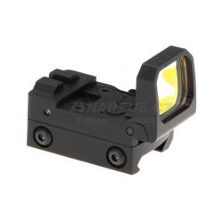 Kolimátor Flip Dot Reflex Sight, červené podsvícení, černý