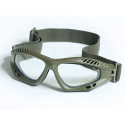 Glasses AIR COMMANDO Mil-Tec OLIVE clear