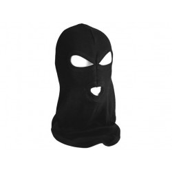 Hood with 3 holes COTTON BLACK