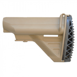 HK416 style collapsible battery stock for M4/M16 AEG - TAN
