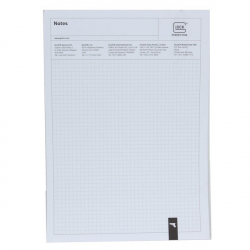 Writting Pad Glock A4 chequered 100 sheets/pad