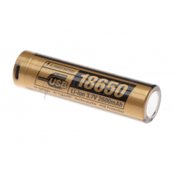 18650 Battery 3.7V 2600mAh Micro-USB