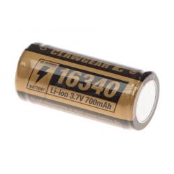 CR123A/16340 Battery 3.7V 700mAh
