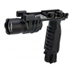 Taktická svítilna s rukojetí M910A - černá