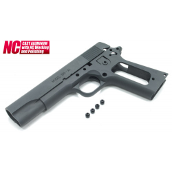 Aluminum Slide & Frame for MARUI M1911A1 (S.A. Type/Black)