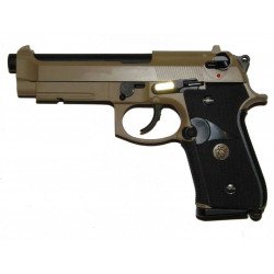 Beretta M9 A1 WE logo, TAN, fullmetal, blowback. CO2