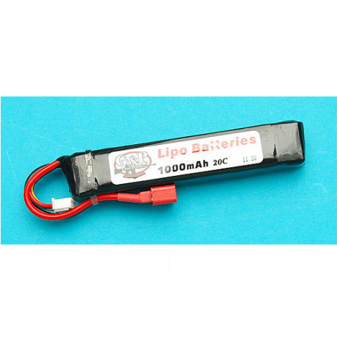 11.1v 1000mAh (30C) Li-Poly Rechargeable Battery