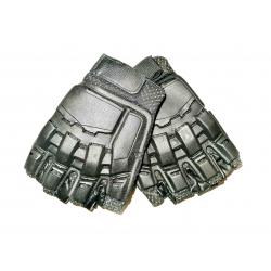SWAT Leather Gloves-Half Finger (XS) black