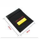 Ochranný vak 18x23cm z nehořlavého materiálu pro Li-pol, černý