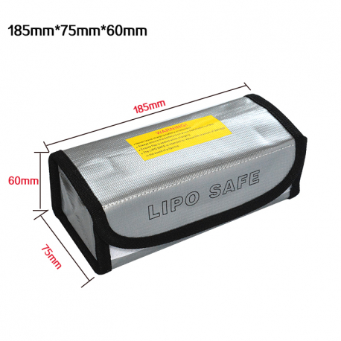Safety Bag 60x75x185mm for Li-pol battery
