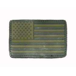 US flag Patch - rubber, OD