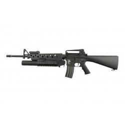 M16A3 + plynový granátomet M203 (SA-G02 ONE™) - černá