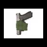 Universal Pistol Holster UPH, green, left side
