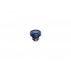 Piston head, CNC aluminium, ventilation,hexachrome blue