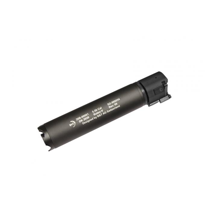 B&T Rotex-V 197mm - rychloupínací tlumič, šedý
