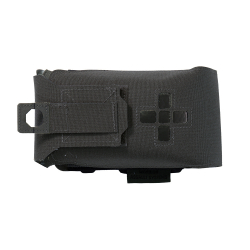 Small Horizontal Individual First Aid Kit pouch, Laser Cut, Black