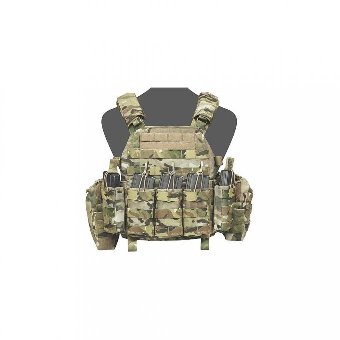 Warrior DCS Plate Carrier AR15 open, Multicam